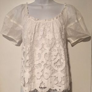ANTHRO MOULINETTE SOEURS Messina Lace Top NWT